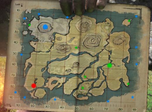 Ark Island Map New Underwater Caves