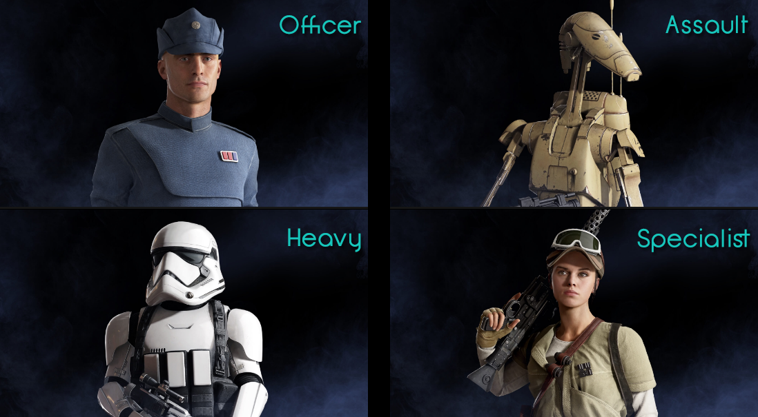Star Wars Battlefront 2 Classes